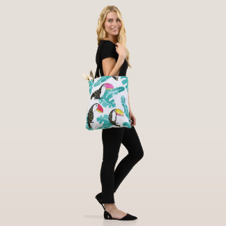 Toucan floral Tote Bag
