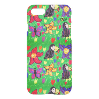 Toucan flower butterfly iPhone 8/7 case