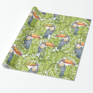 Toucan Jungle Bird Tree Leaves Pattern
