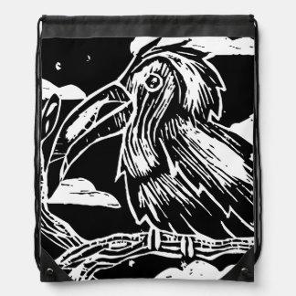 Toucan Print Drawstring Bag