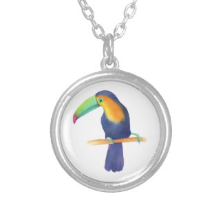Toucan Silver Plated Necklace