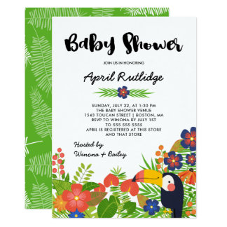 Toucan Tropical Baby Shower Card