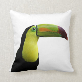 Toucan tropical exotic photo animal cushion