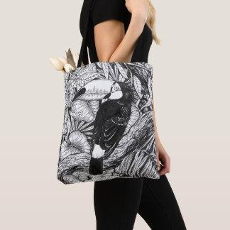 Toucan tropical garden tote bag