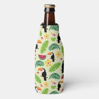 Toucan Tropical Summer Pattern Bottle Cooler