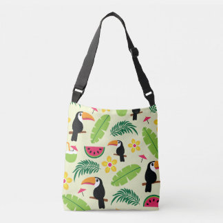 Toucan Tropical Summer Pattern Crossbody Bag