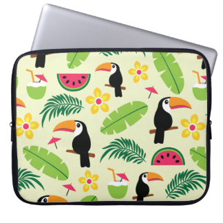 Toucan Tropical Summer Pattern Laptop Sleeve