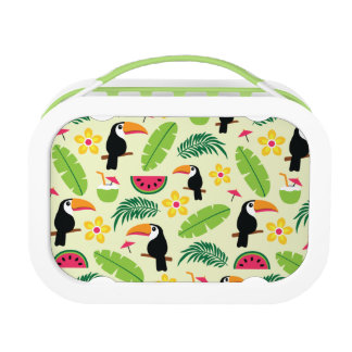 Toucan Tropical Summer Pattern Lunch Box