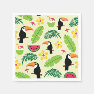 Toucan Tropical Summer Pattern Paper Napkins
