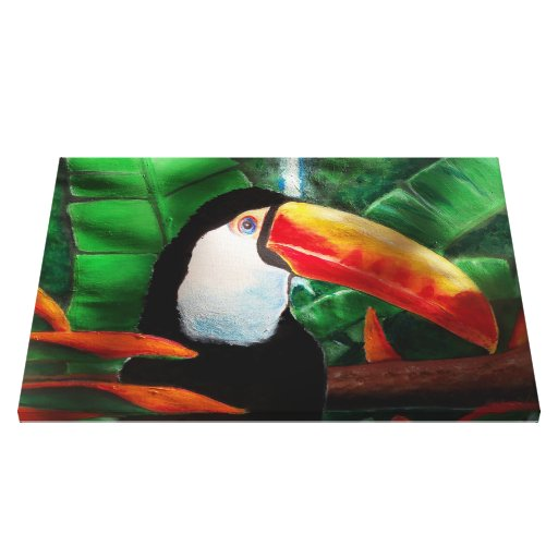 Toucan Wildlife Animal Jungle Wrapped Canvas Art Gallery Wrapped Canvas