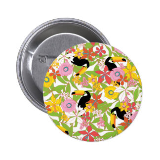 toucans 6 cm round badge