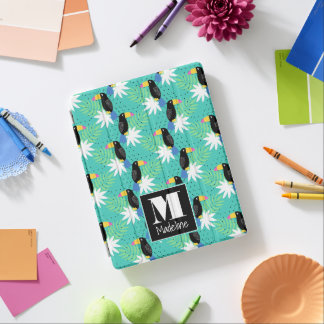 Toucans On Teal | Monogram iPad Cover