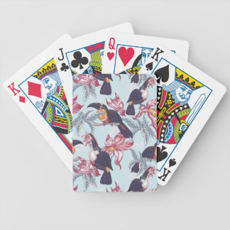 Toucans With Exotic Flowers Poker Deck