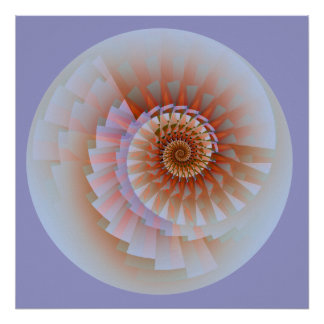 Touch Abstract Fine Fractal Art Poster