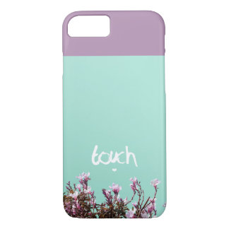 Touch hand lettering typography romantic text iPhone 7 case