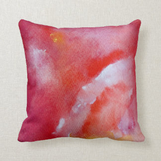 Touch me Pink Yellow White Red Art Throw Cushion
