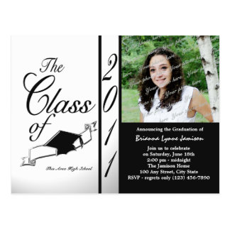 Touch of Class Graduation 2011/ Black Postcard