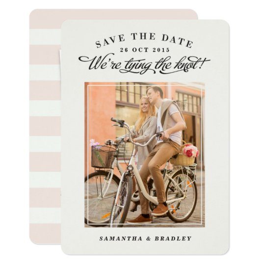 Touch of Class photo save the date card