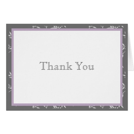 Touch of Class Purple Thank You Note Card