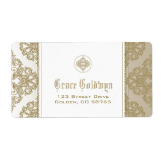 Touch of Gold Shipping Label