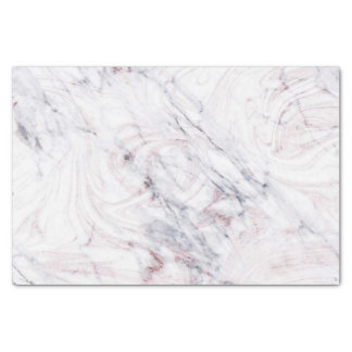 Touch of Rose White & Grey Marble Swirl Chic Trend Tissue Paper