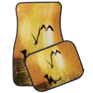 Touch the Golden Heavens Ocean Birds Floor Mat