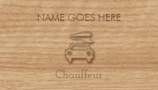 Chauffeur business cards zazzle au touch wood chauffeur business cards colourmoves