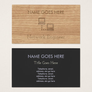 """""""Touch Wood"""" Network Engineer Business Cards"""