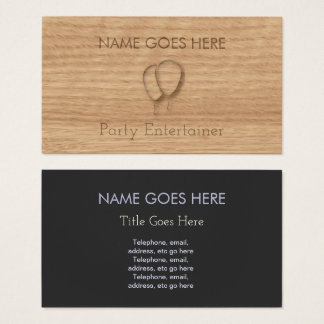 """""""Touch Wood"""" Party Entertainer Business Cards"""