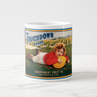 Touchdown Brand Vintage Crate Label Large Coffee Mug