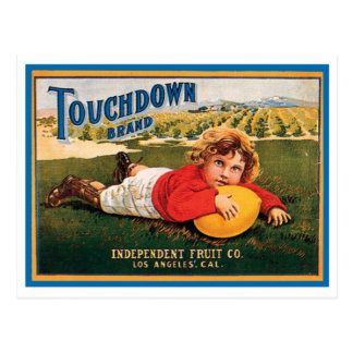 Touchdown Brand Vintage Crate Label Post Cards