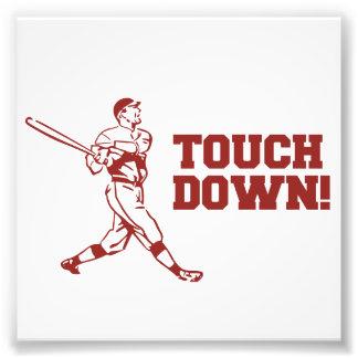 Touchdown Homerun Baseball Football Sports Photographic Print