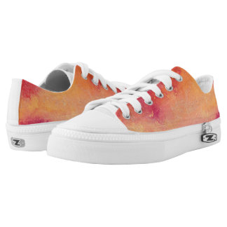 Touched by Fire Watercolour Low Tops
