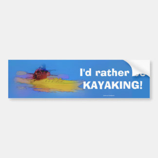 Touching Heaven   -   Kayaker Bumper Sticker