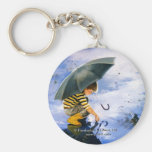 Touching the Sky Key Chain