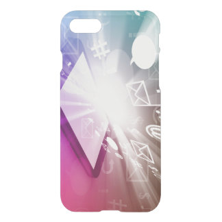 Touchscreen Smart Phone Downloading Apps and Cloud iPhone 7 Case