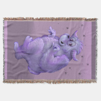 TOUFFIN ALIEN CARTOON Throw Blanket