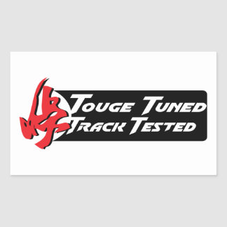 Touge Tuned Track Tested Rectangular Sticker