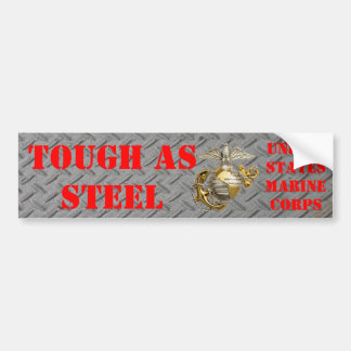 TOUGH AS STEEL USMC CAR BUMPER STICKER