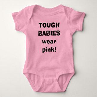 TOUGH BABIESwear pink! Baby Bodysuit