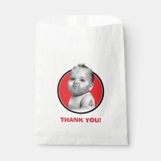 Tough Beared Baby Boy Favour Bag