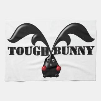 TOUGH BUNNY White Customizable Name Text Template Tea Towel
