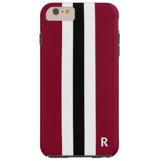 Tough Burgundy Stripe iphone 6 Plus Case for Men