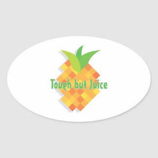 Tough But Juice Oval Sticker