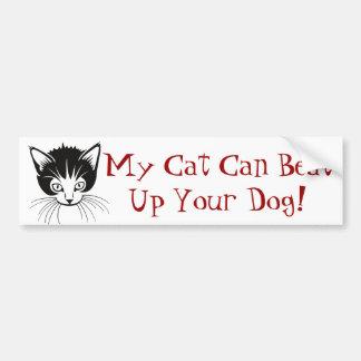 Tough Cat Bumper Sticker