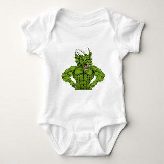 Tough Dragon Mascot Baby Bodysuit
