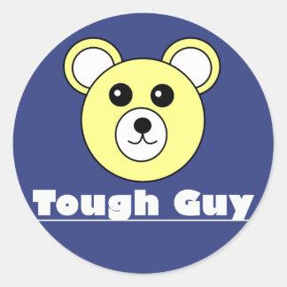 Tough Guy Cute Bear Face Sticker