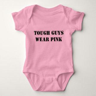 tough guys wear pink baby bodysuit