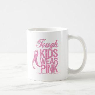 Tough Kids Wear Pink Cool Breast Cancer Coffee Mug