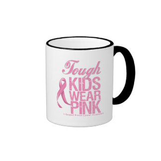 Tough Kids Wear Pink Cool Breast Cancer Mugs